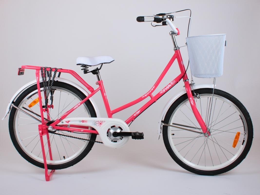 Rower Miejski Junior 24 Dziewczynki Damka Koral 7238507389