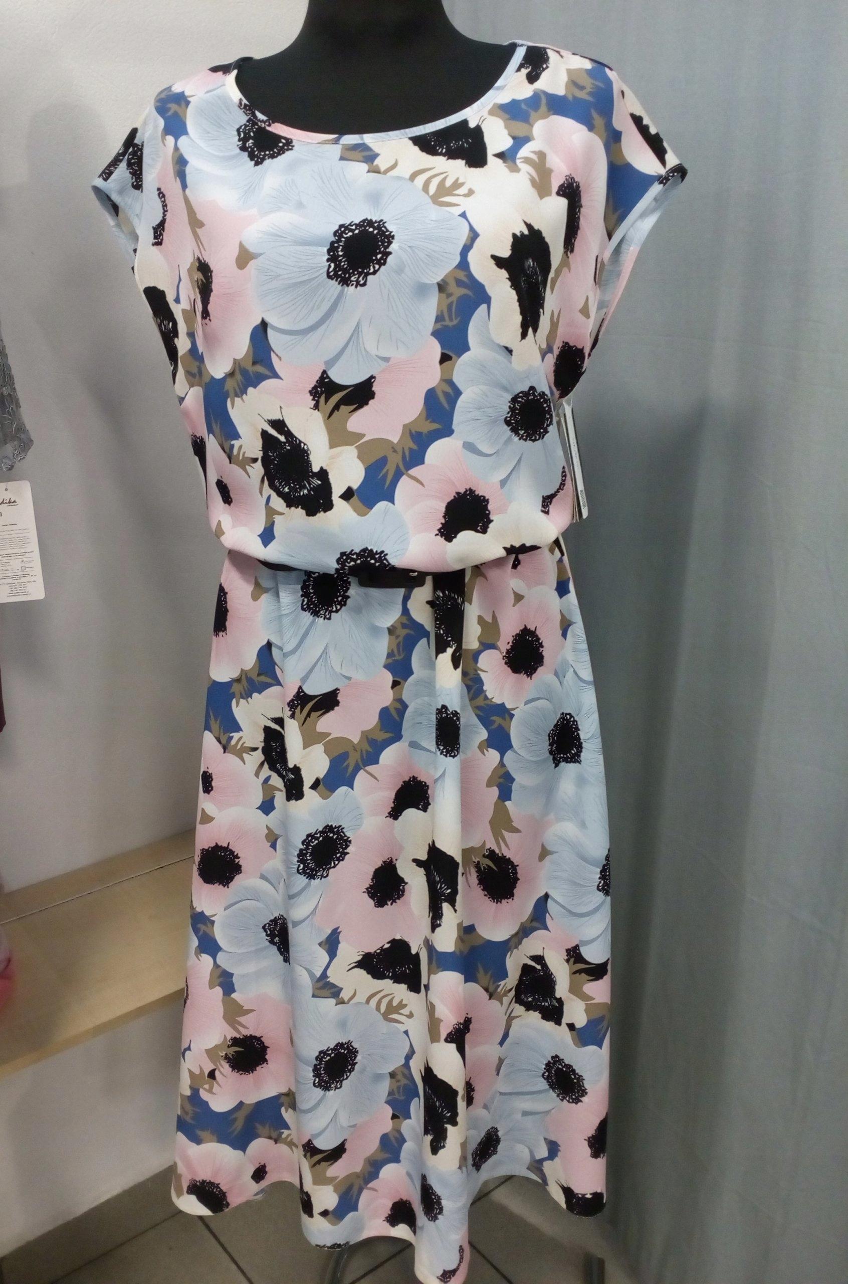 f5b709e84b Sukienka rozkloszowana w kwiaty rozmiar 44 - 7394913373 - oficjalne ...