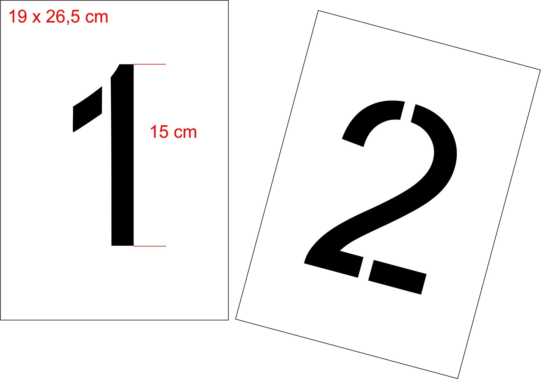 Szablon Malarski Cyfry 0 9 Wys 15 Cm 7033811653 Oficjalne