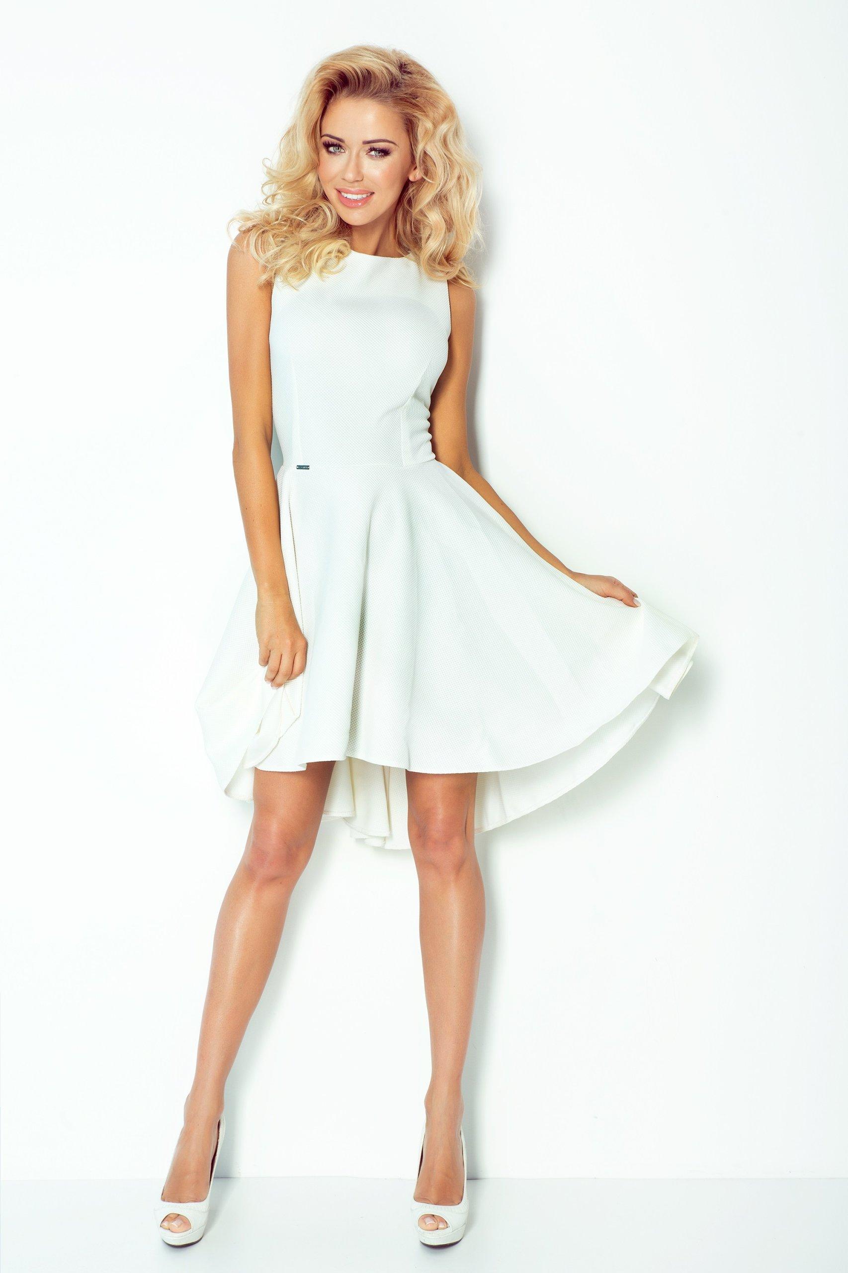 323fadf941 ASYMETRYCZNA Sukienka MIDI NA WESELE 66-7 M 38 - 7343553072 ...