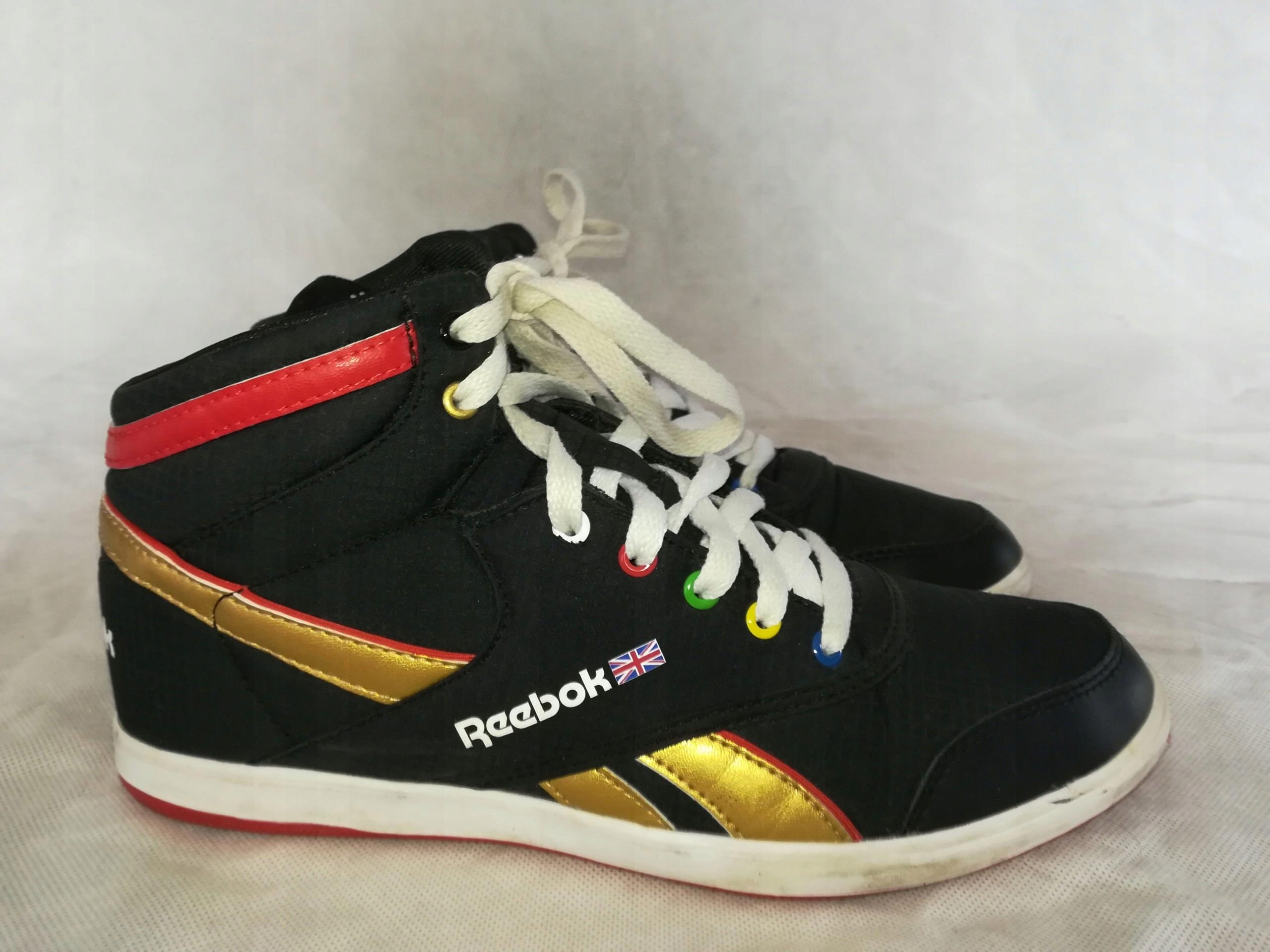 Reebok jak nowe! wysokie buty sportowe trampki 40