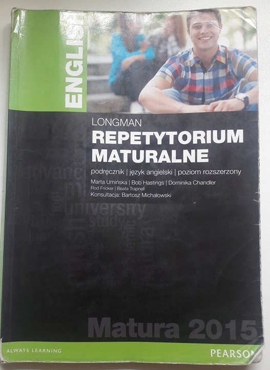 Wspaniały LONGMAN REPETYTORIUM MATURALNE poziom rozszerzony - 7399041663 OF36