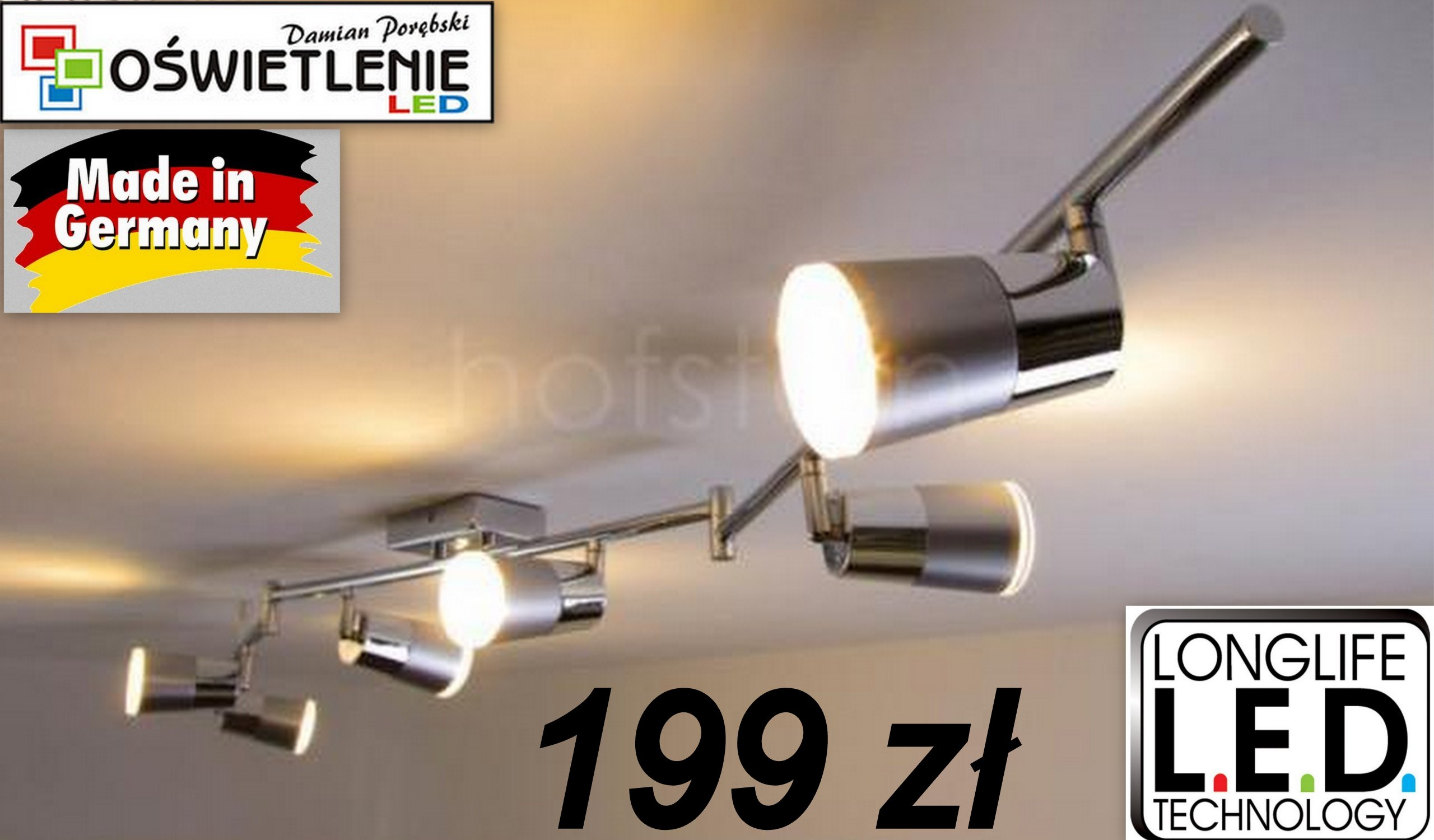 Lampa Plafon Listwa Led Kuchnia Salon Nowość 7429158580