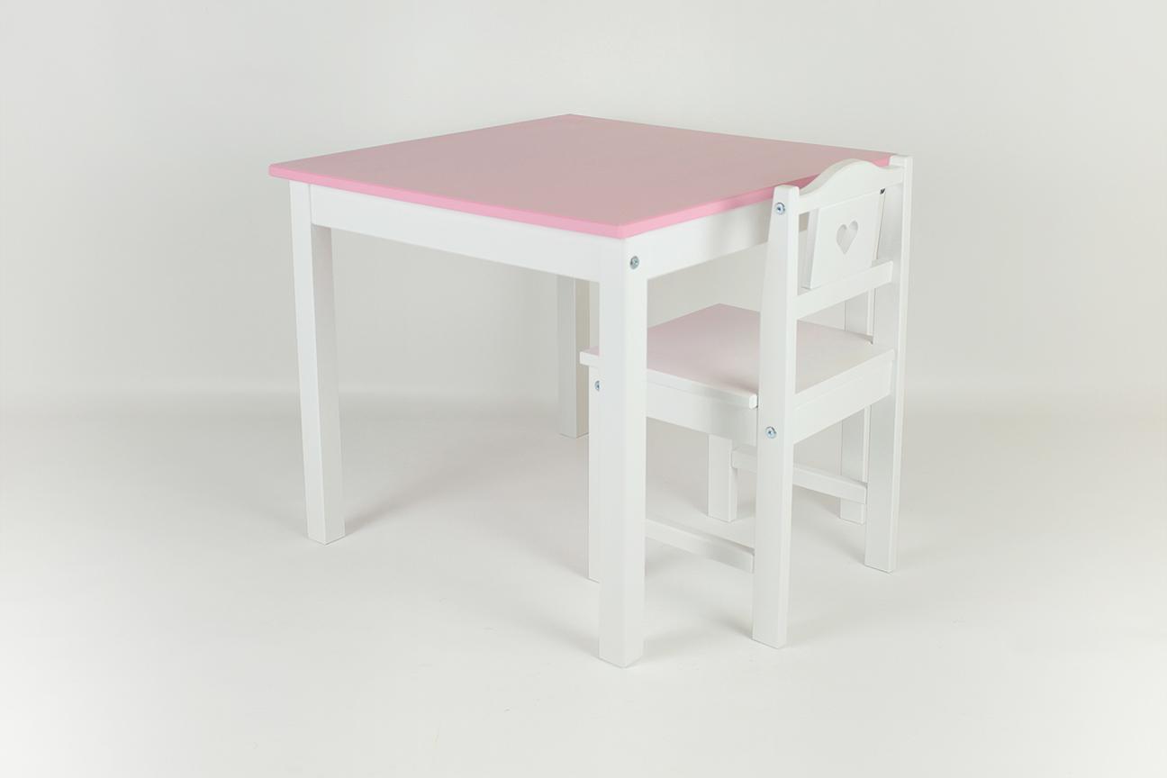 Komplet Stolik I Krzesełko Zestaw Dla Dziewczynki