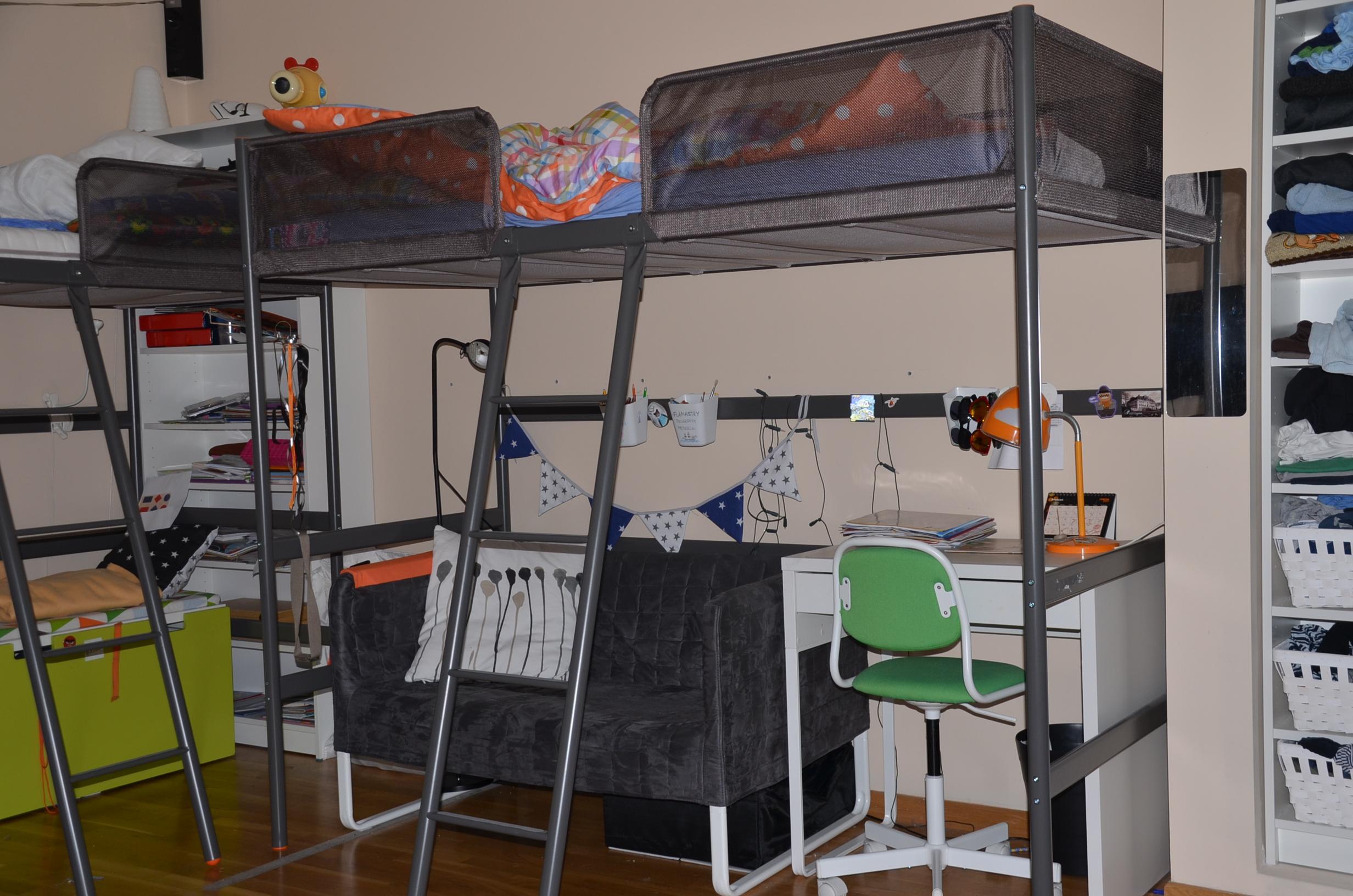Ikea łóżko Piętrowe Tuffing Antresola Dla Dzieci