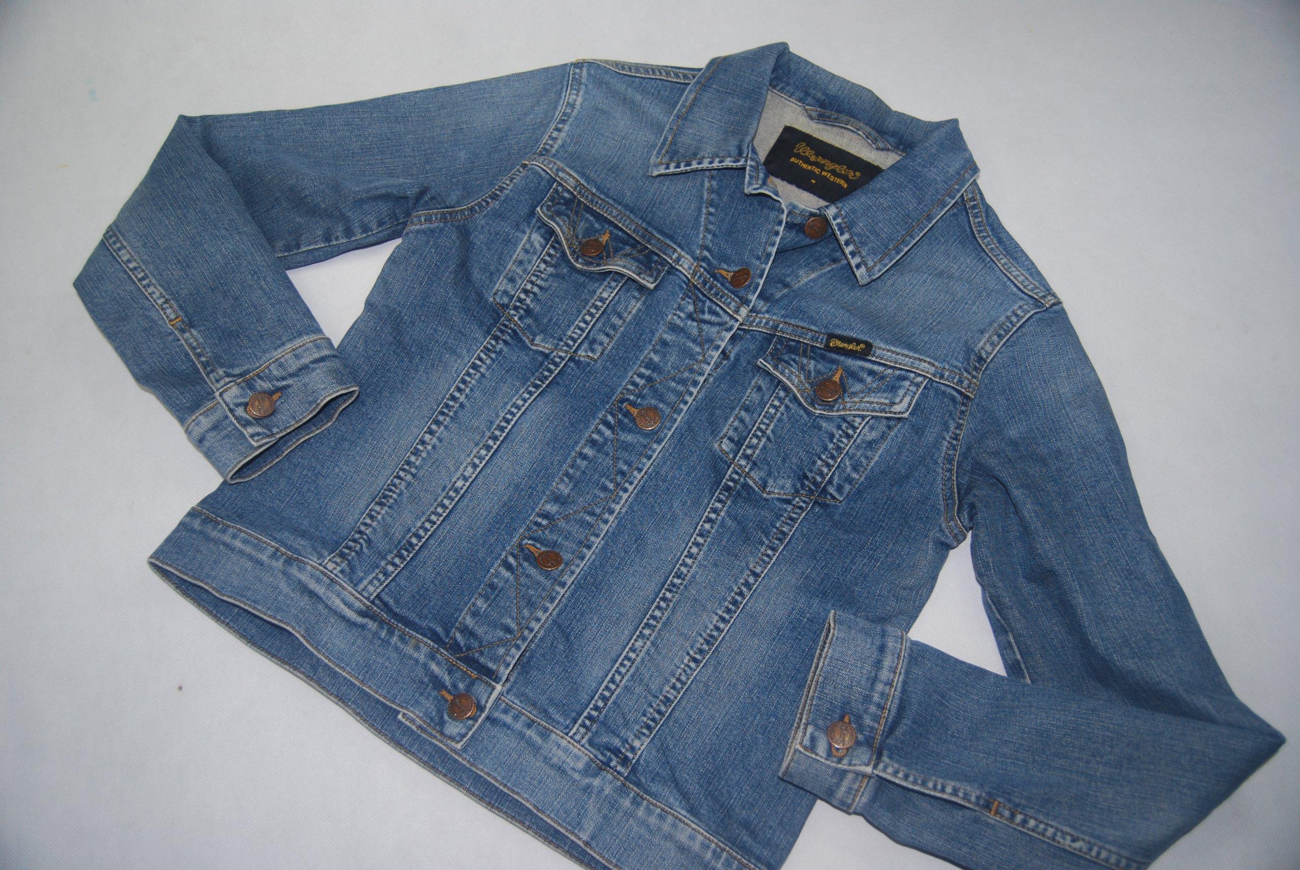 0125bc8f Wrangler Autentic Western kurtka jeansowa katana M - 7364174364 ...