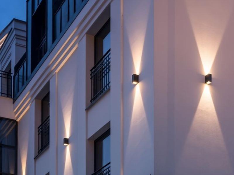 Mocne Oświetlenie Elewacji Budynku Domu ściany Led