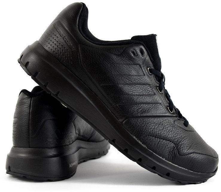 buty męskie adidas duramo czarne skórzane ze skóry licowej