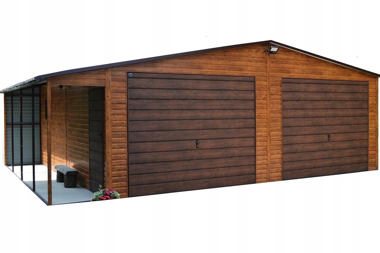 Garaż Blaszany Drewnopodobny Akrylowy Nowość 7466098830