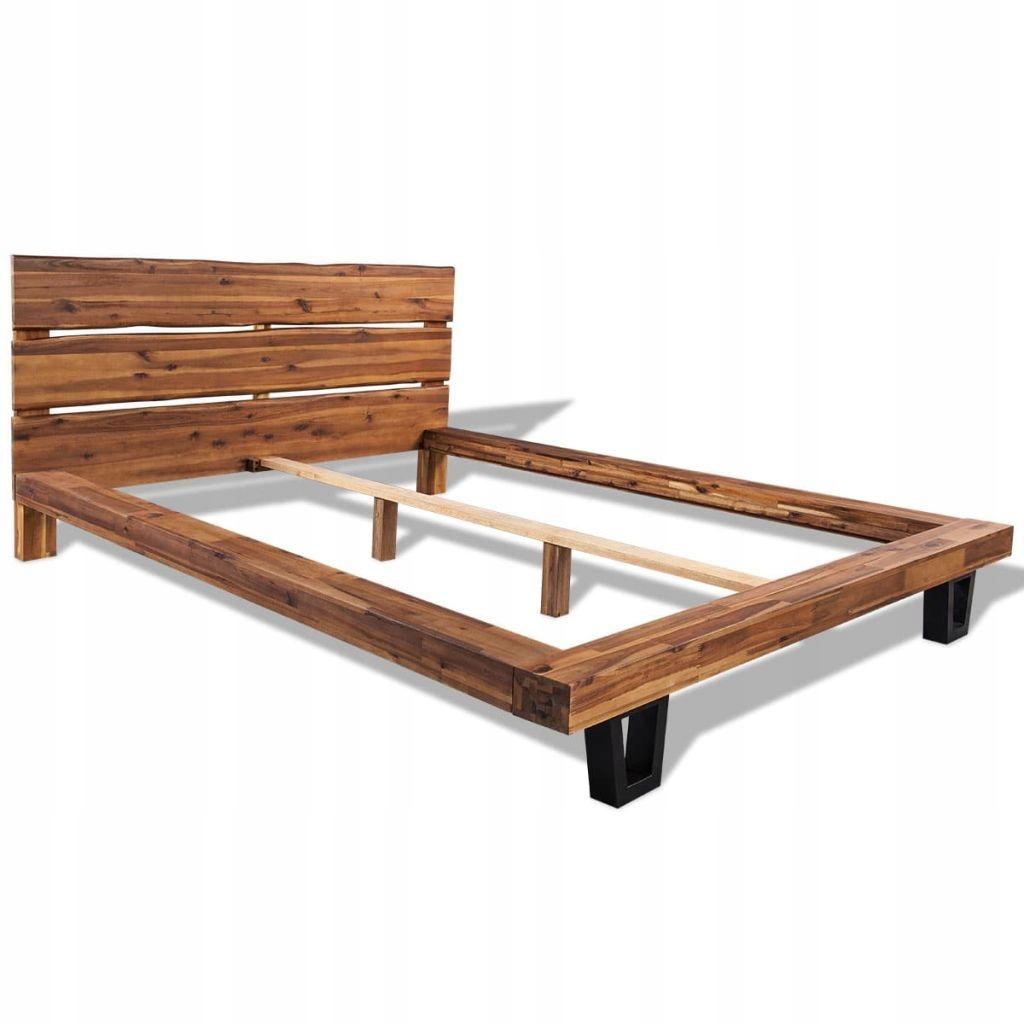 244997 Vidaxl Rama łóżka Z Litego Drewna 7674784616