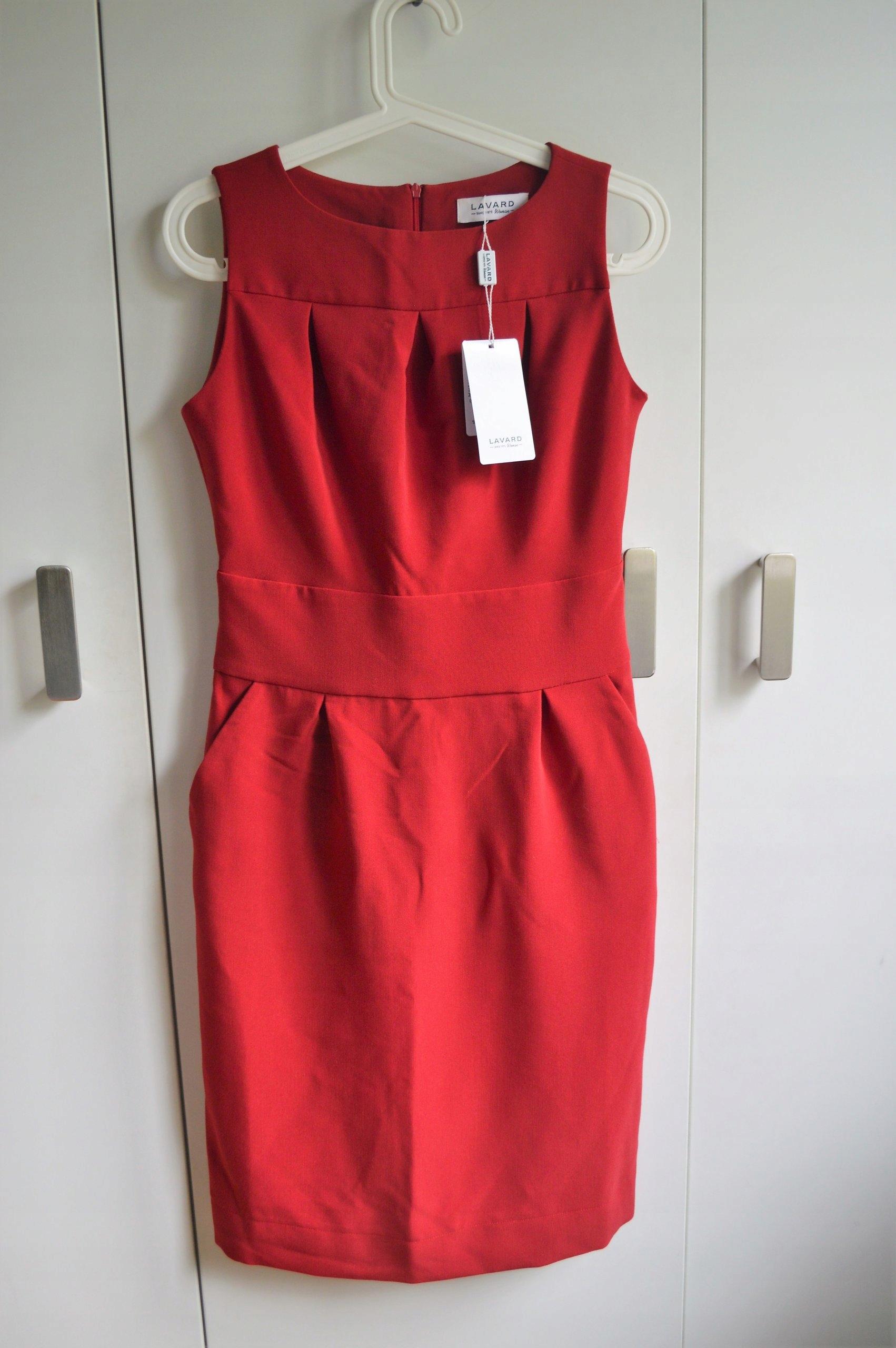 LAVARD ekskluzywna sukienka M czerwona nowa.