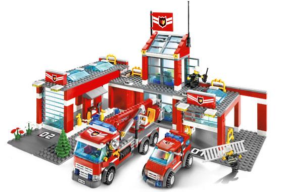 Lego 7945 Remiza Strażacka Straż Instrukcje 7091607339
