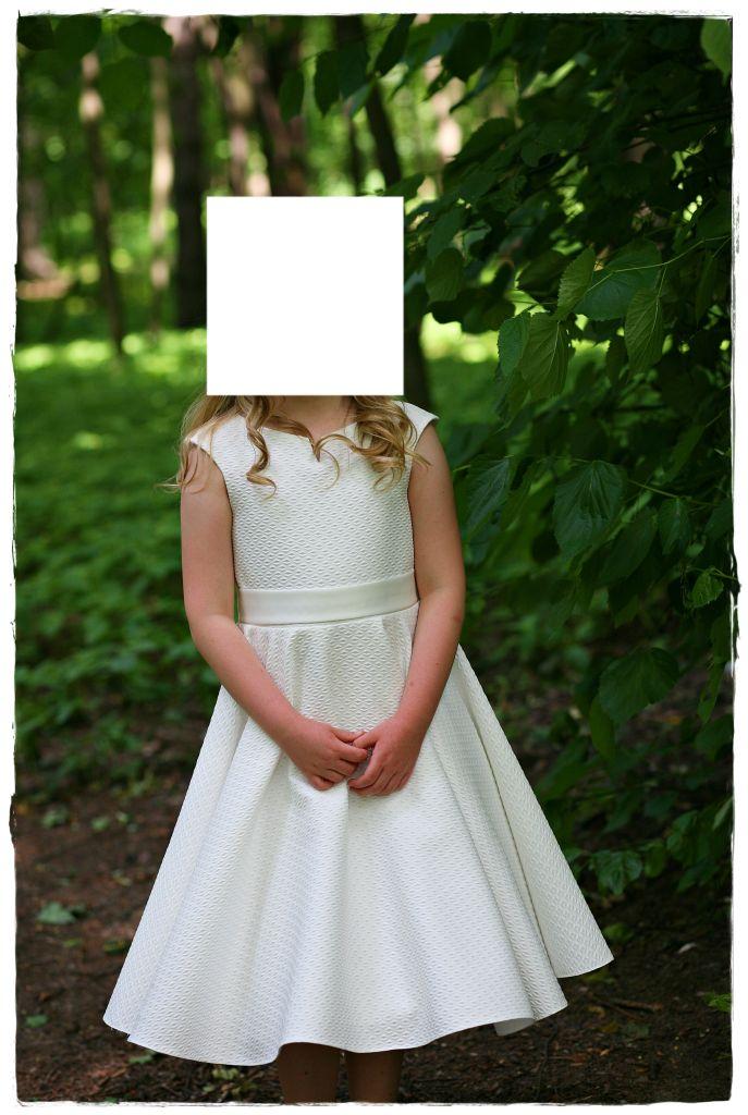 a5b5fe3141 Sukienka Komunijna kolor Ecru stan bardzo dobry . - 7242023126 ...