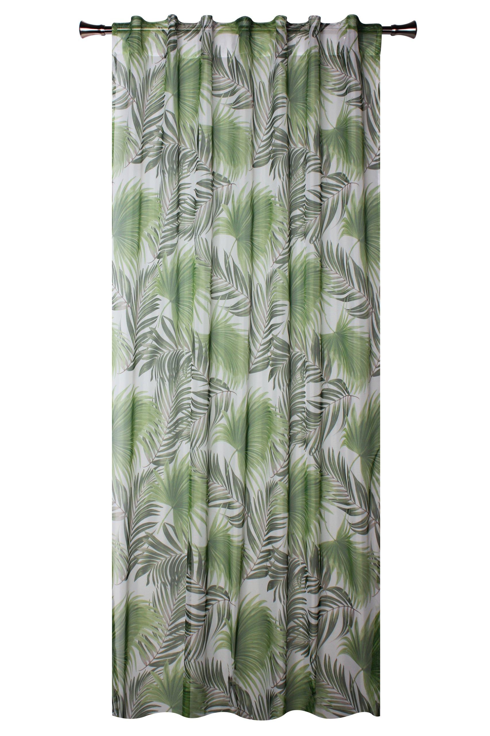 Firana Palmas Druk Liście Jungle Woal 140x245 Cm