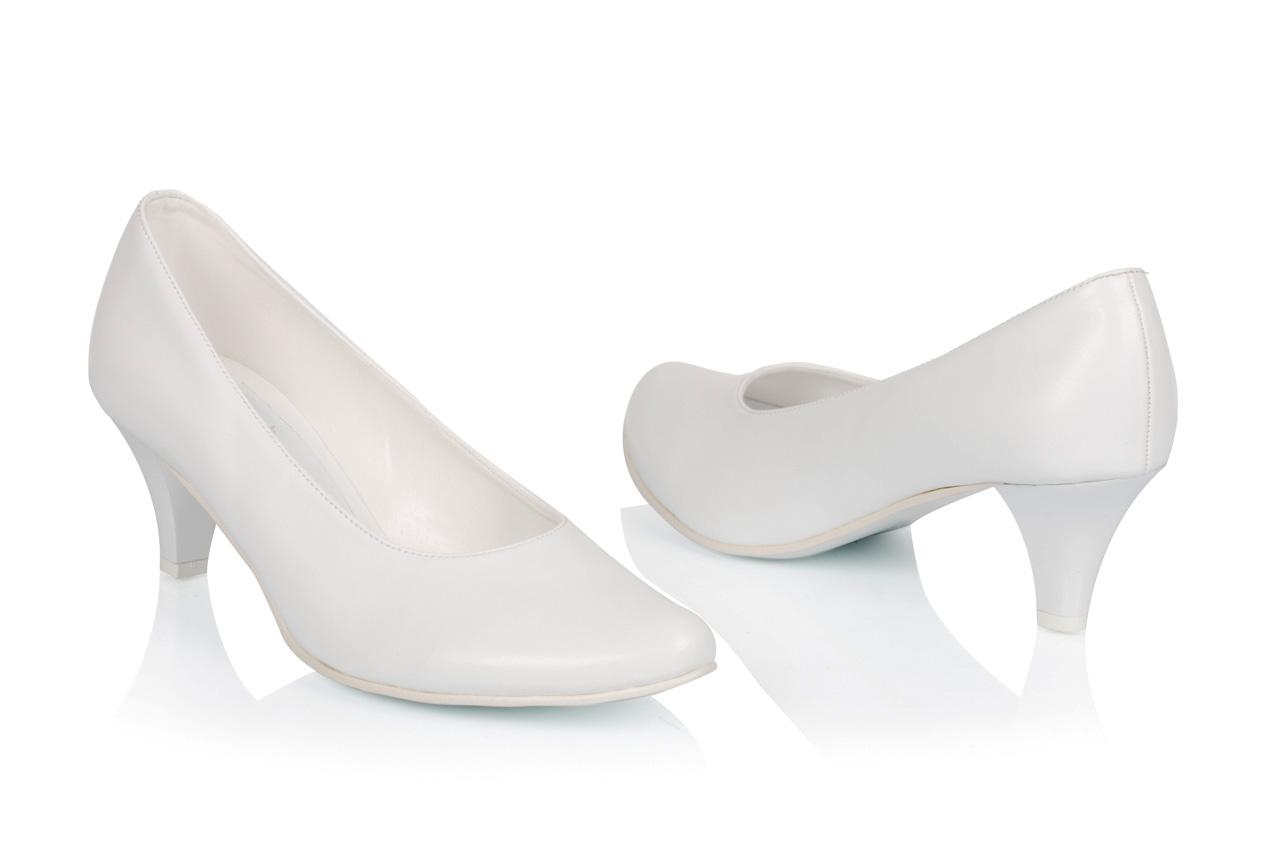 9c59d353 Buty ślubne 3/4 BUTDAM gładkie biały niskie 35 - 7121879792 ...