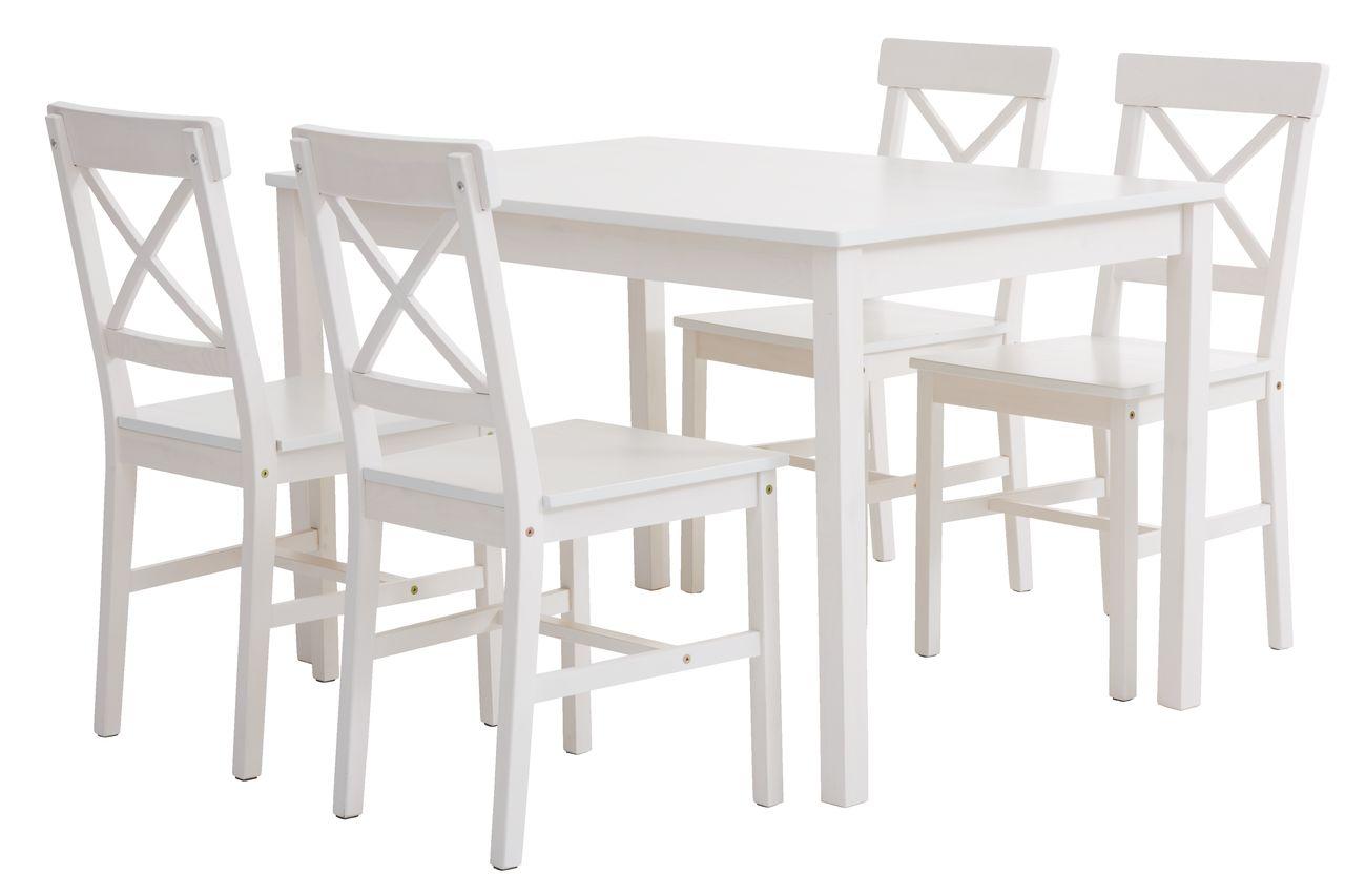 Zestaw Do Jadalni 4 Krzesła Ejby Biały Jysk 7059600471