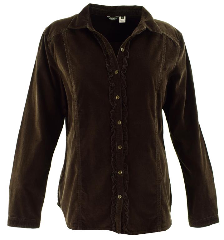 eN2084  Brązowa sztruksowa koszula 46