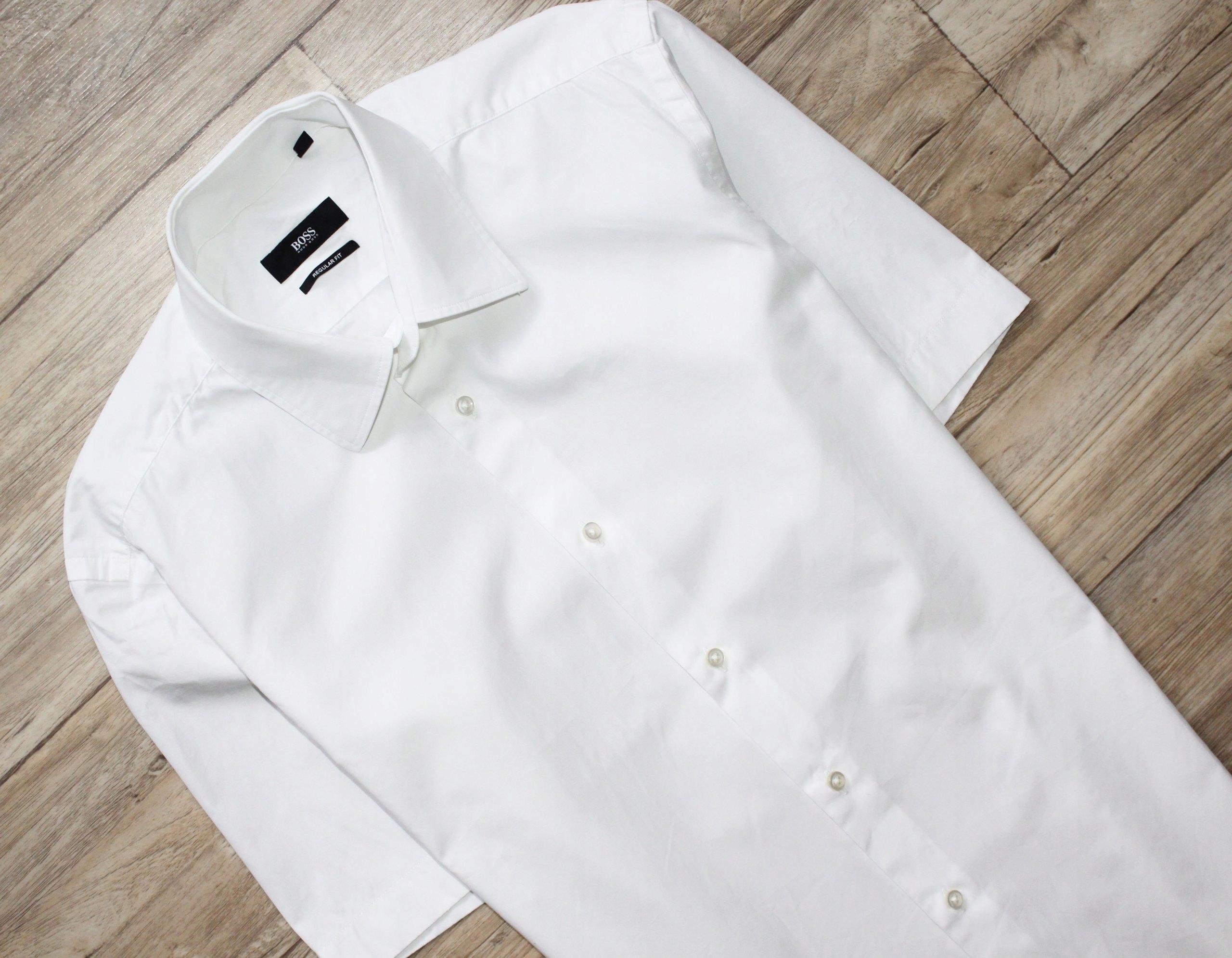 1f0267955eba7 Koszula Hugo Boss bdb M 38 oryginał biała - 6952355981 - oficjalne ...