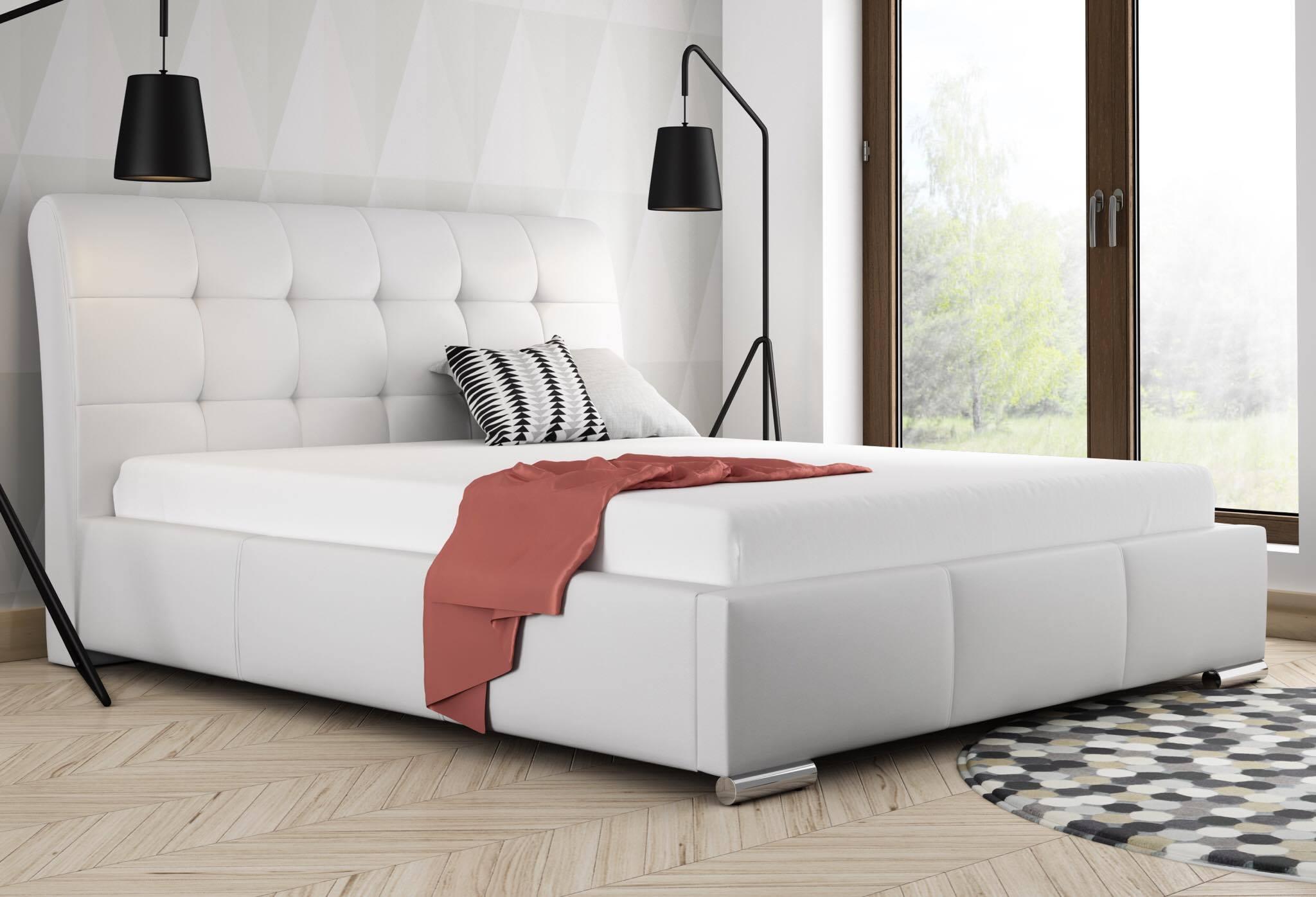 łóżko Tapicerowane Stelaż Pojemnik 140x200 6733270975