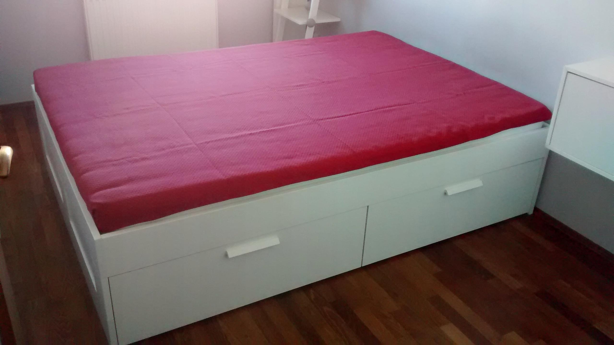 łóżko 140x200 Ikea Brimnes Rama łóżka Z Szufladami