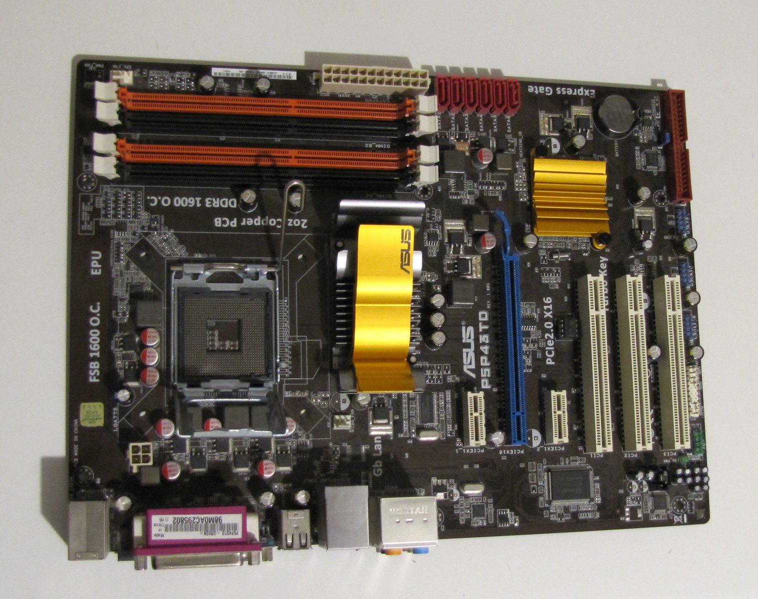 Asus P5P43TD P43 LGA775 DO 16GB RAM QUAD XEON DDR3