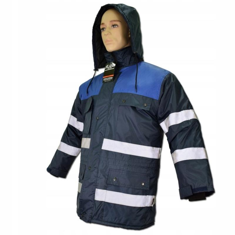 b2fa385ddfc7e Zimowa kurtka robocza odblaskowa FLASH WINBLUE XXL - 7149740489 ...