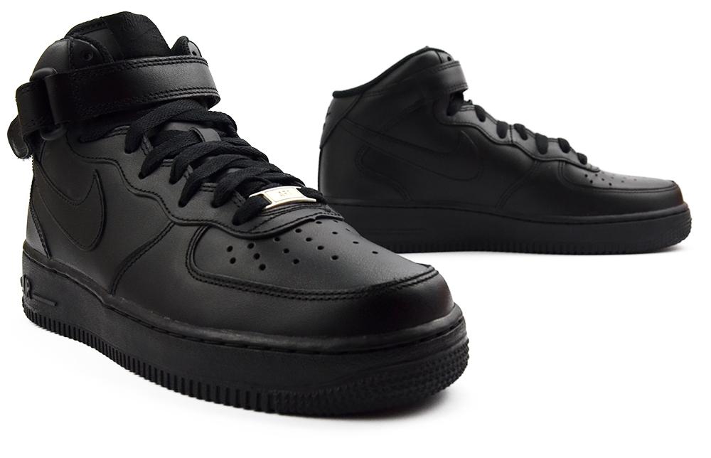 f31c0709 Buty Męskie Nike Air Force 1 Mid '07 r.40 CZARNE! - 6922869885 ...