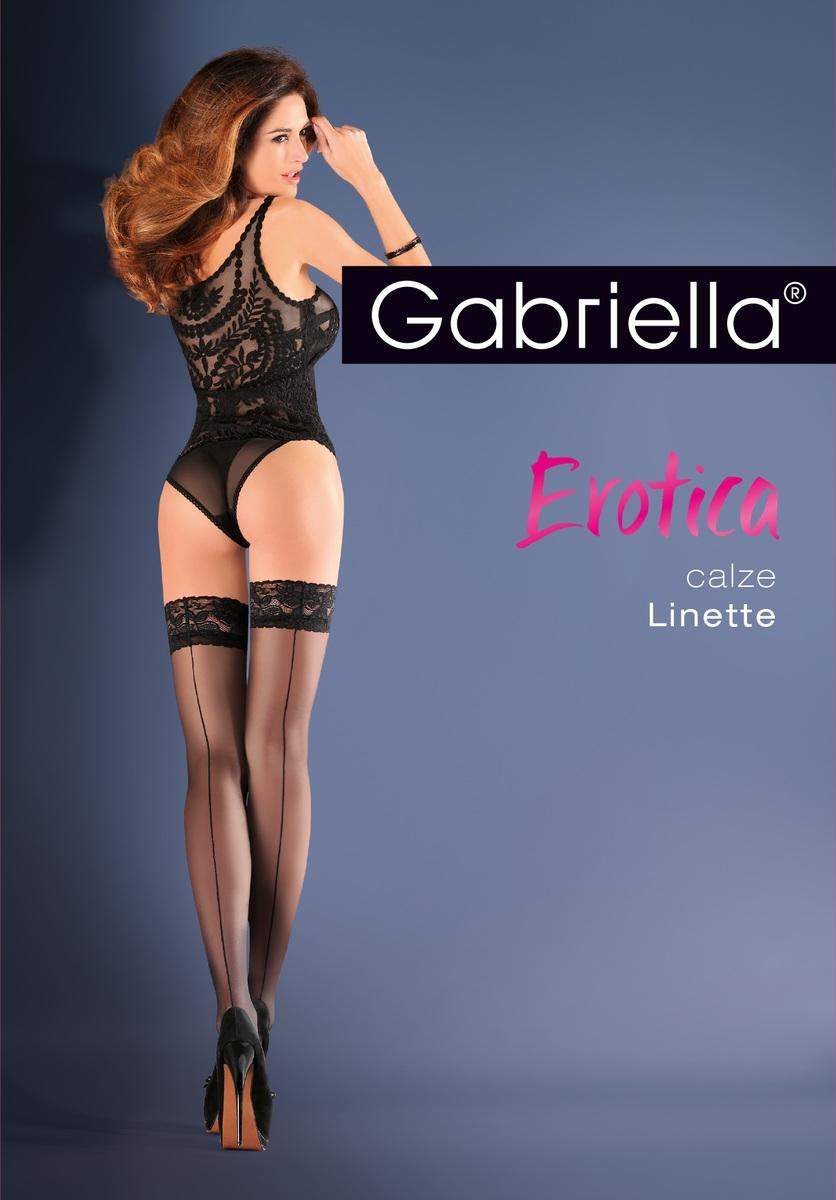88dbd9fbfe0f91 Pończochy Gabriella Erotica Calze Linette r - 1/2 - 6687204365 ...