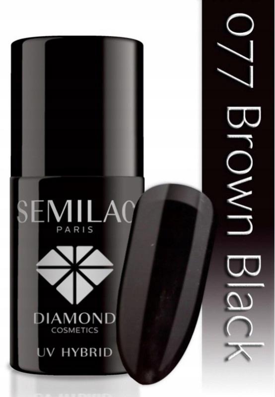 SEMILAC UV HYBRID LAKIER HYBRYDOWY 077 BROWN BLACK