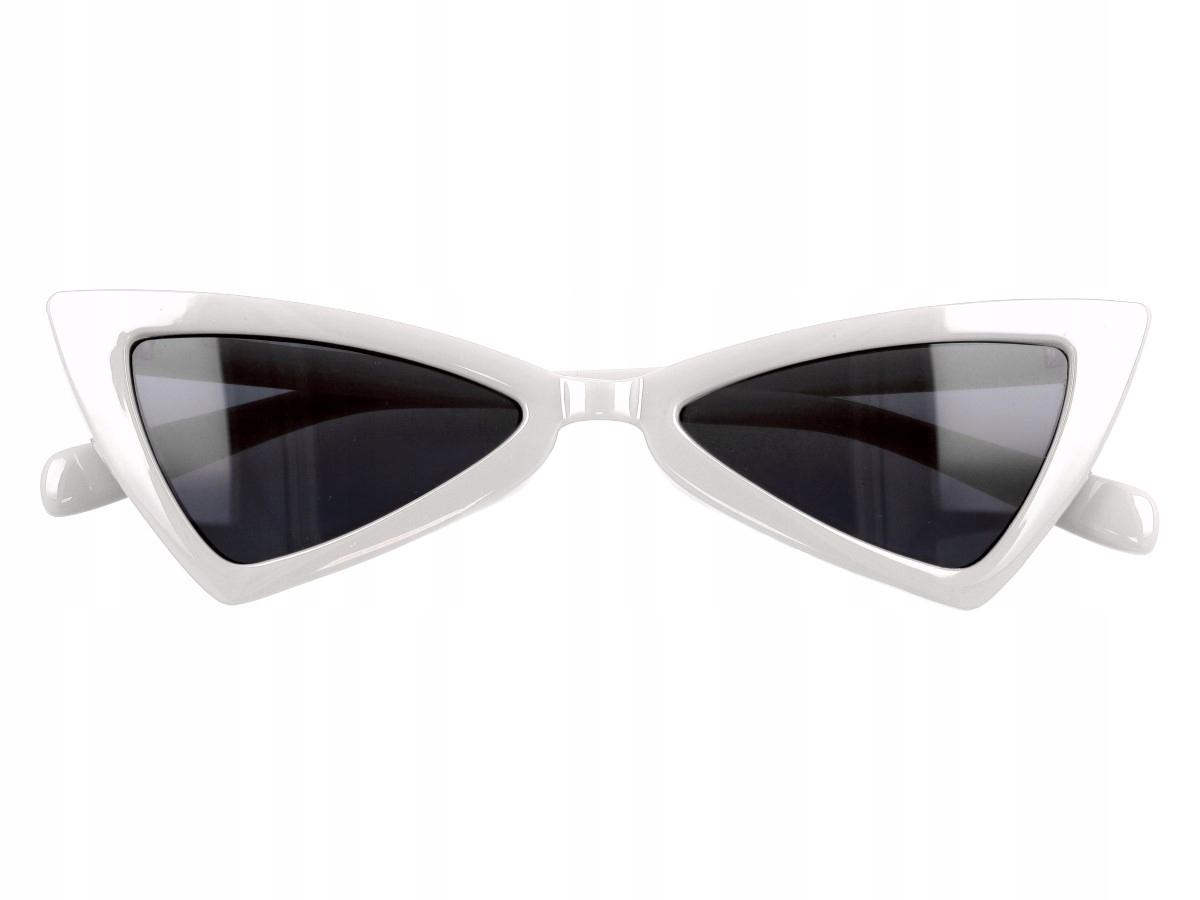 40d30e361168a1 Okulary przeciwsłoneczne damskie kocie oczy białe - 7132197040 ...