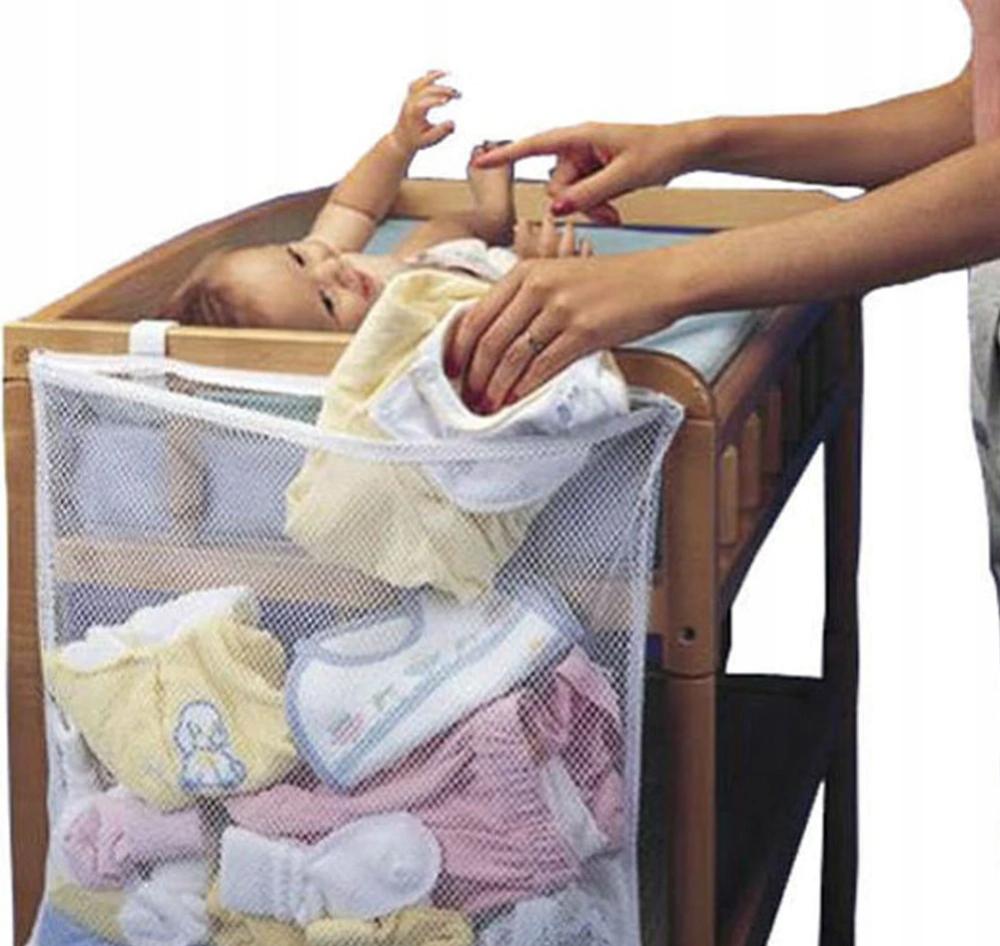 Organizer wiszący do łóżeczka na brudy i zabawki