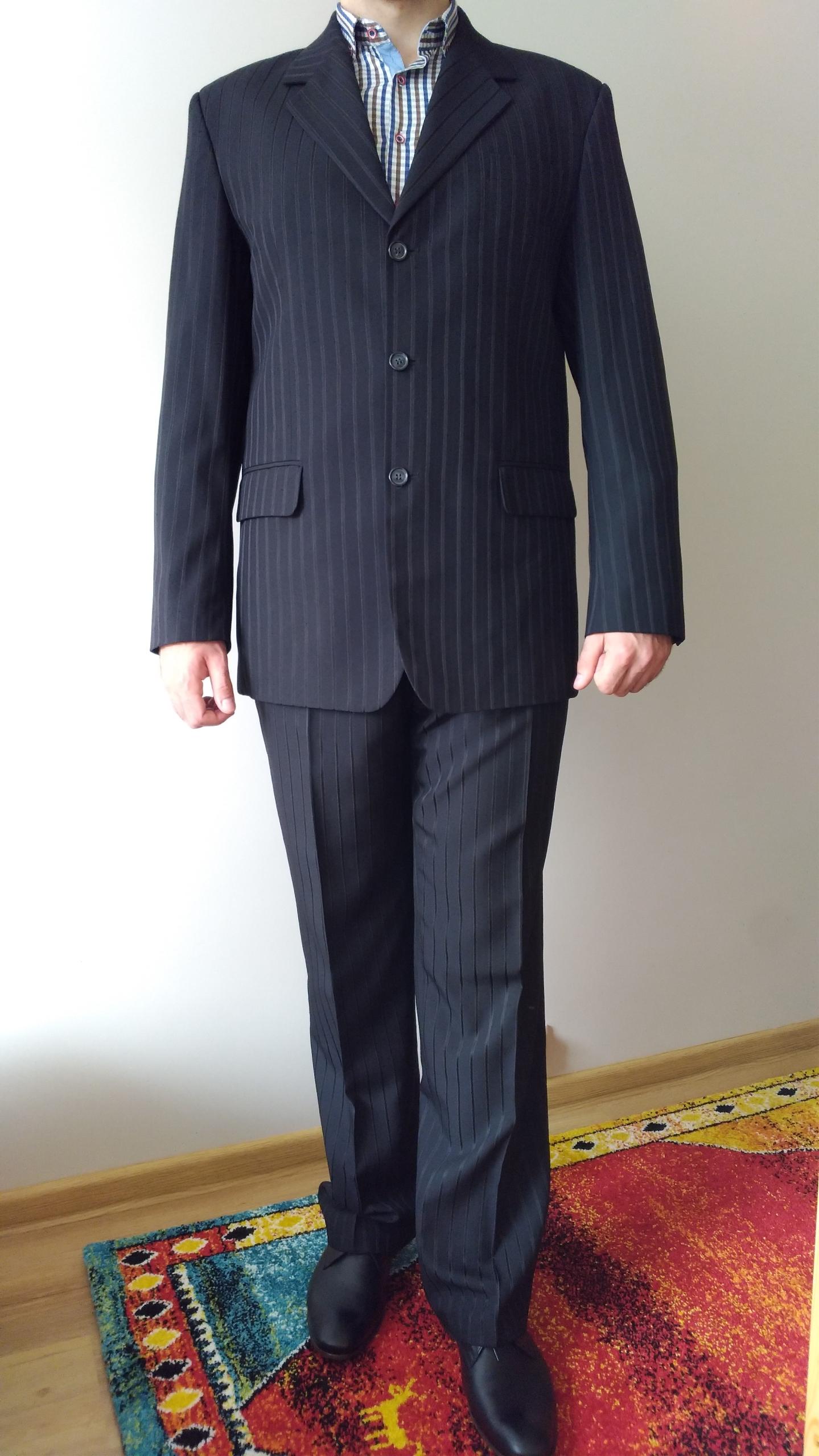 c78c599eb2e1b Garnitur męski spodnie kamizelka czarny r 182/104 - 7765840867 ...