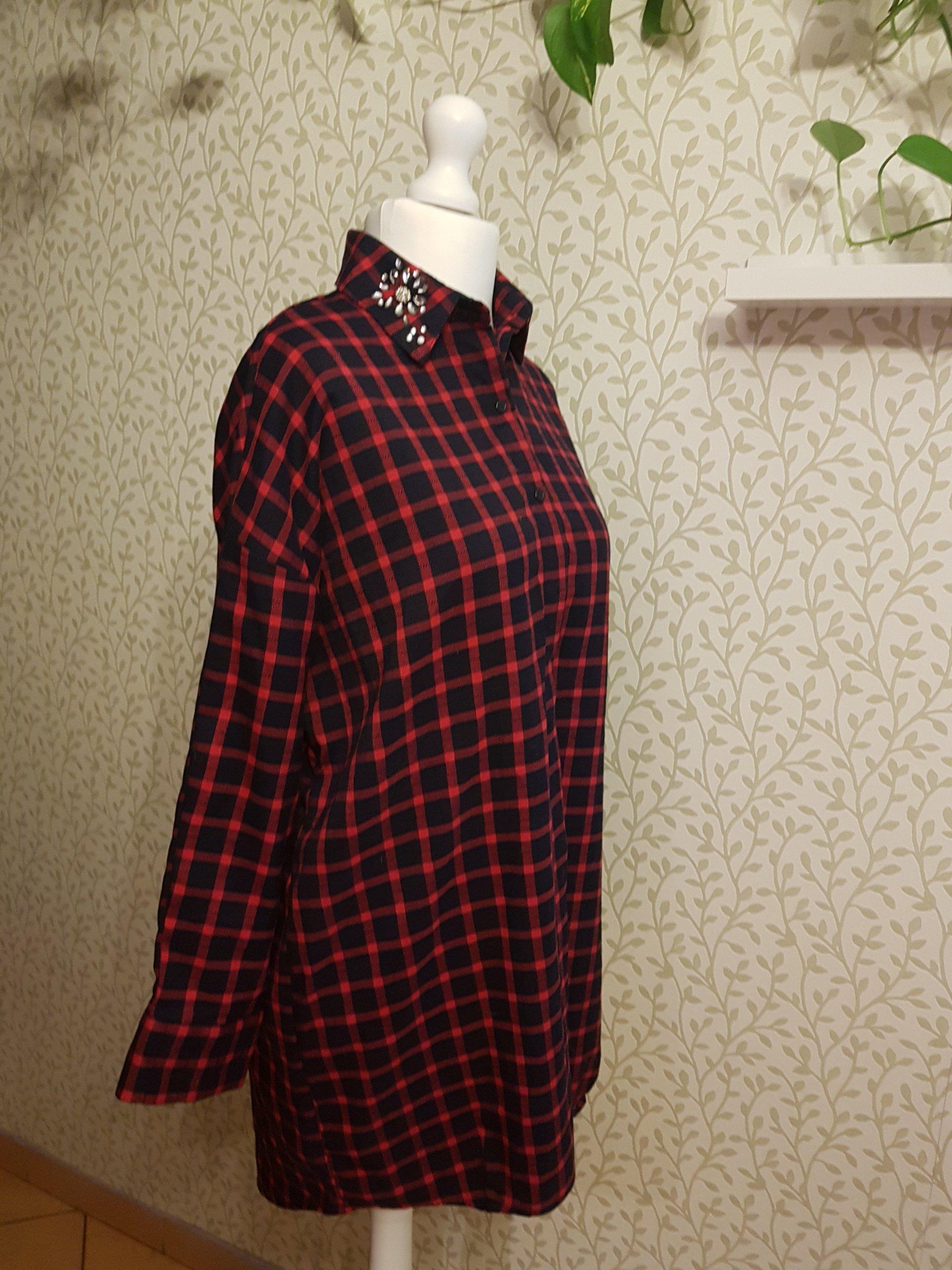 a1887ba160 ZARA sukienka krata 38 - 7115964573 - oficjalne archiwum allegro