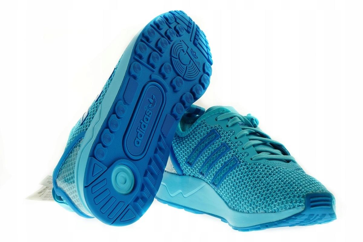 Damskie Adidas ZX Flux ADV K Błękitny Niebieski