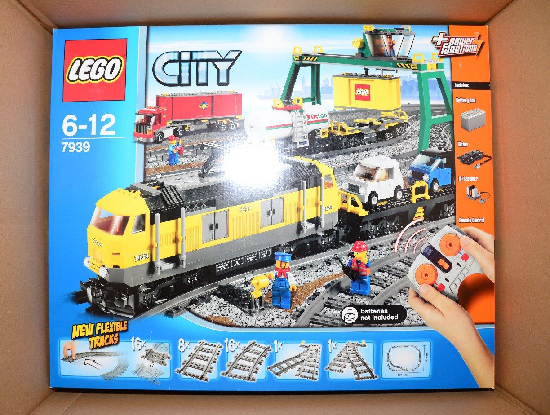 Lego City 7939 Cargo Train żółty Pociąg Towarowy 7049717286