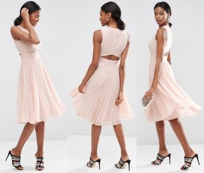 b4617132ad Sukienka ASOS plisowana pudrowy róż Rozmiar 36 - 7351731553 ...