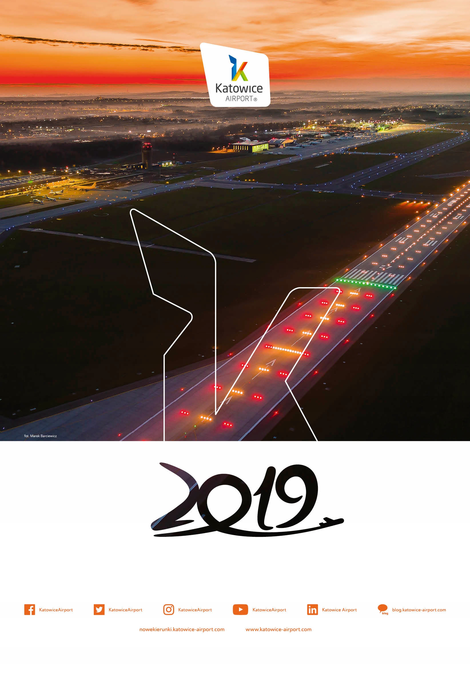 Kalendarz ścienny Katowice Airport na rok 2019