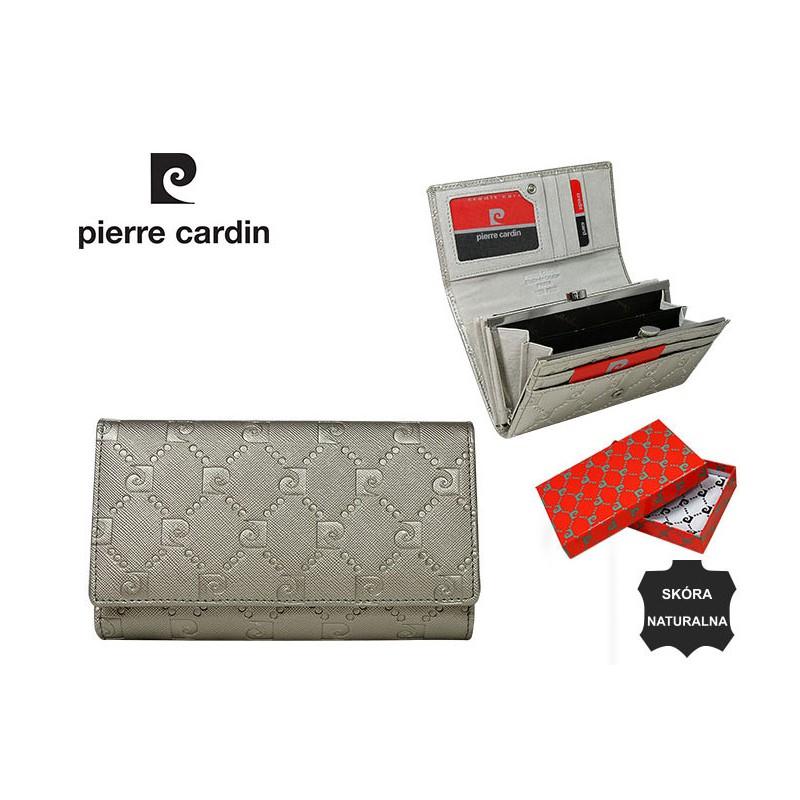 fba11eabeef50 Skórzany portfel damski Pierre Cardin skóra - 6887348748 - oficjalne  archiwum allegro