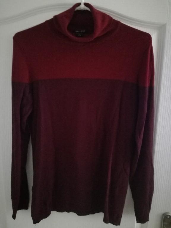 df289bb7 sweterek bordowy 40 L New Yorker amisu golf