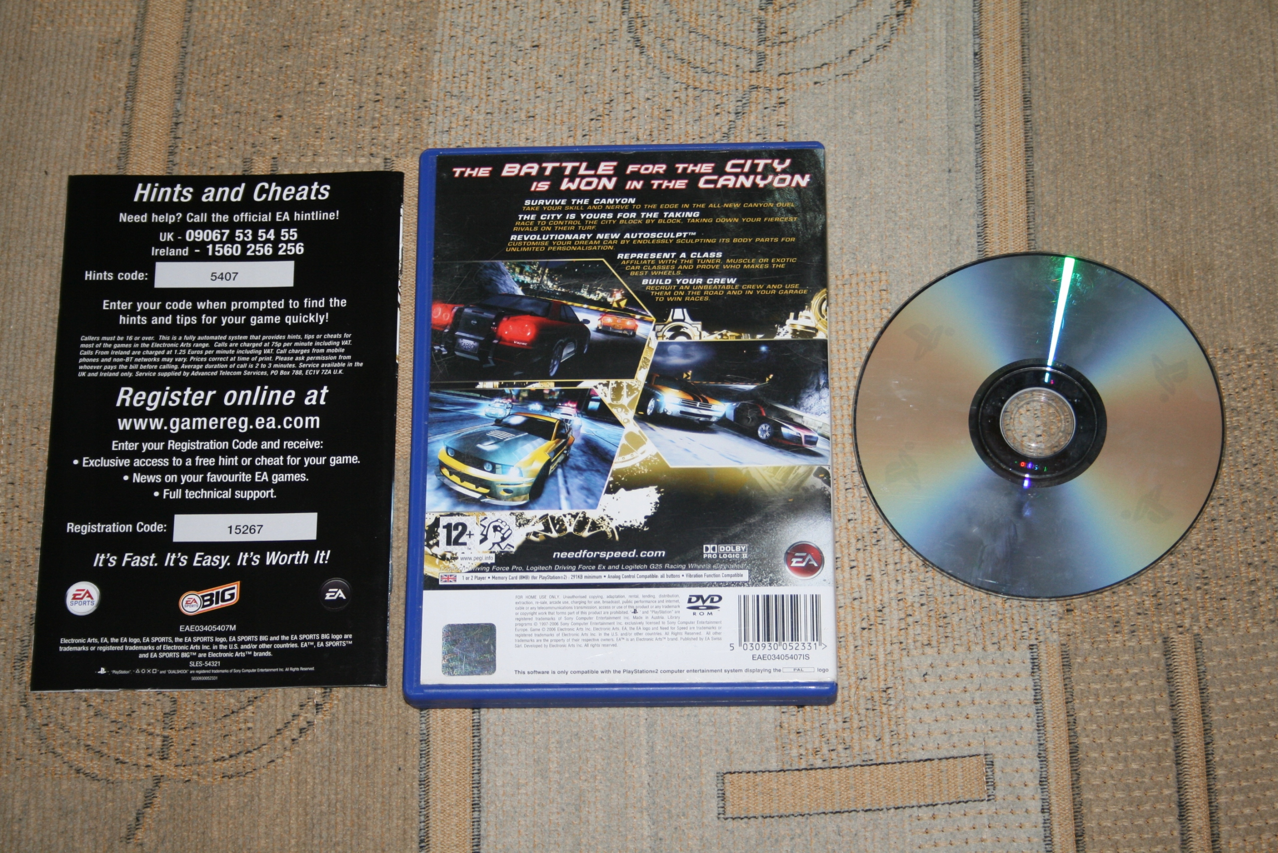 NEED FOR SPEED CARBON / PS2 / Sony PlayStation 2