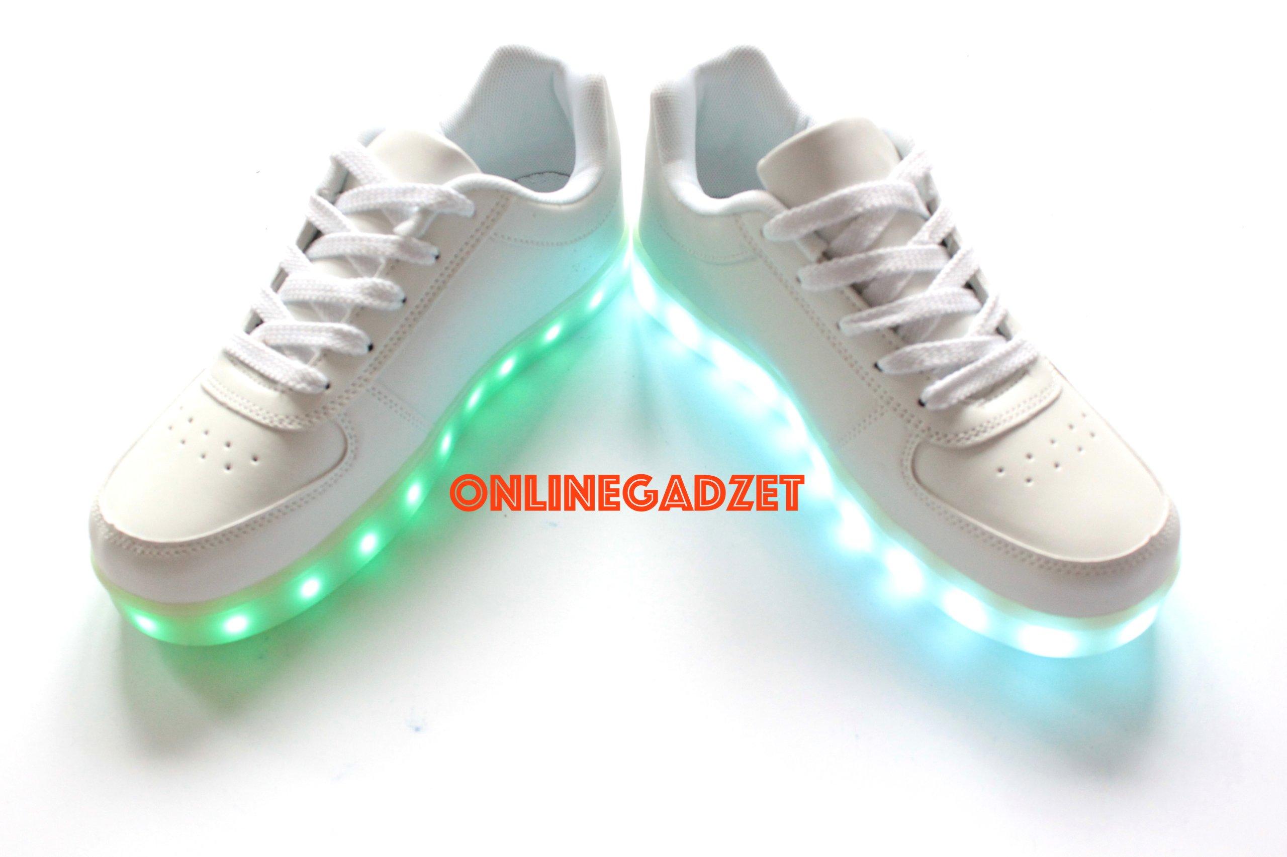 najlepiej autentyczne tani hurtownia online 6765499774 Podświetlane R Świecące Buty Led Białe Sportowe ...
