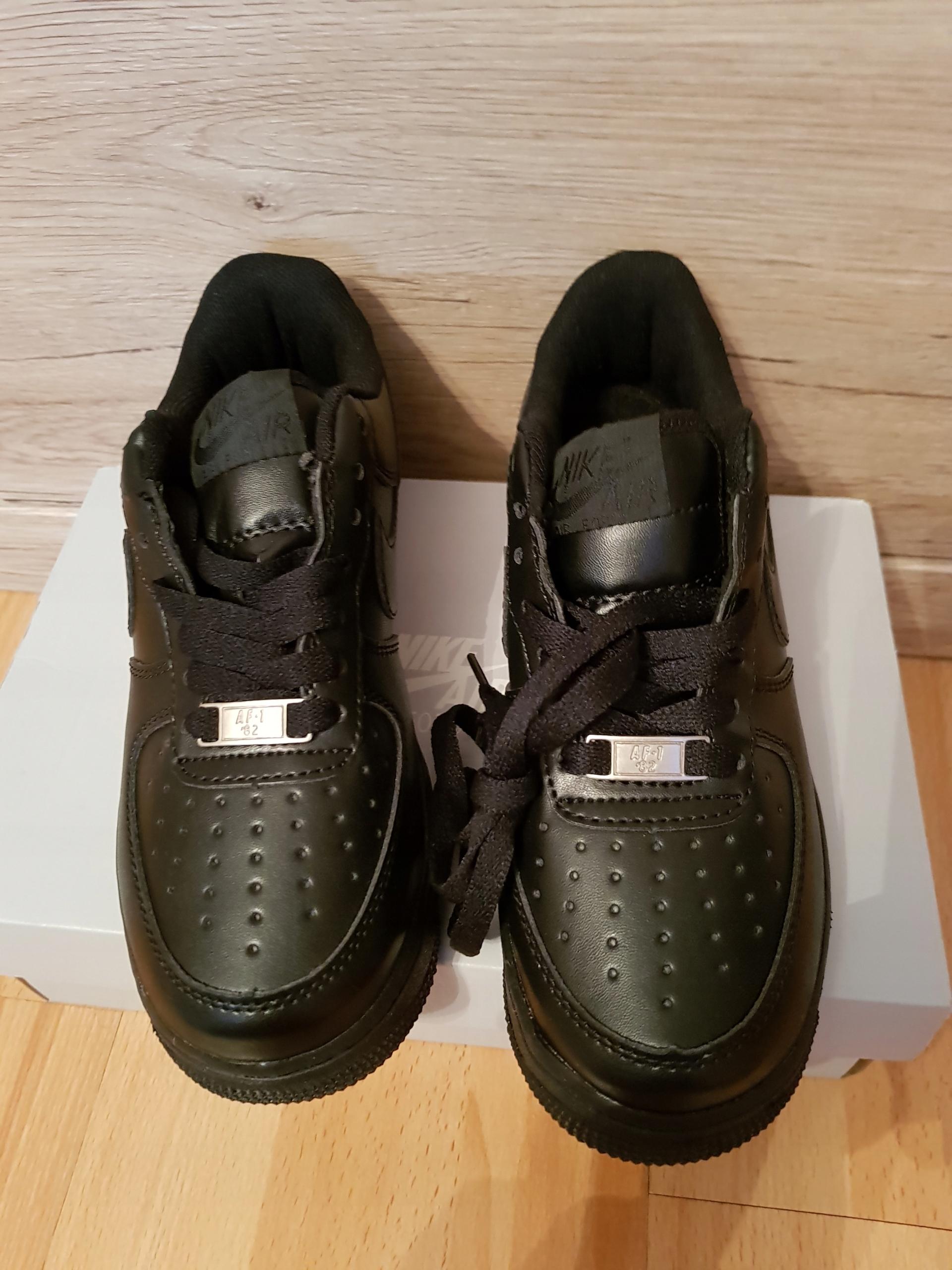 Nike Air Force 1 (GS) czarne rozmiar 36 nowe