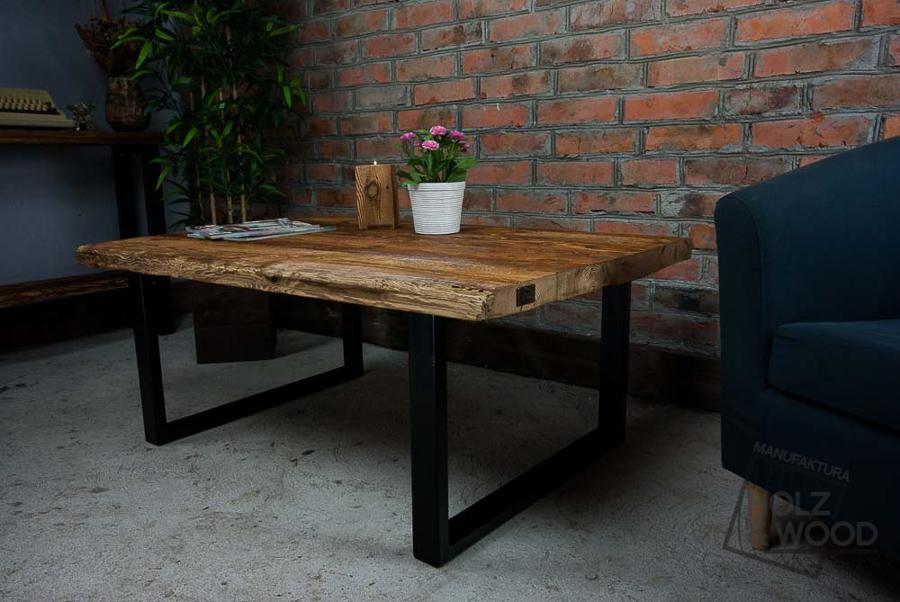 Zaawansowane Stolik kawowy ze starego drewna i stali Sozon - 6774007501 IK55