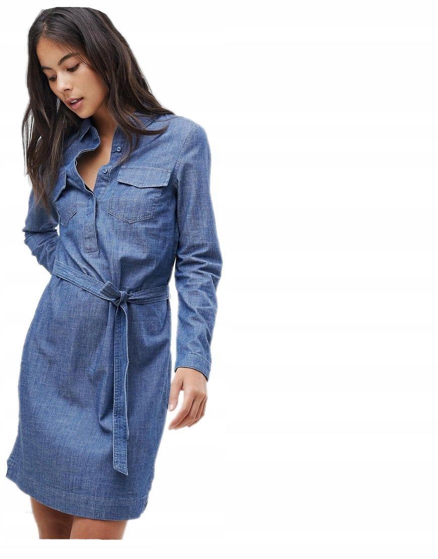 70496c44d2 OASIS sukienka JEANSOWA koszulowa PASEK XL 42 - 7232629182 ...