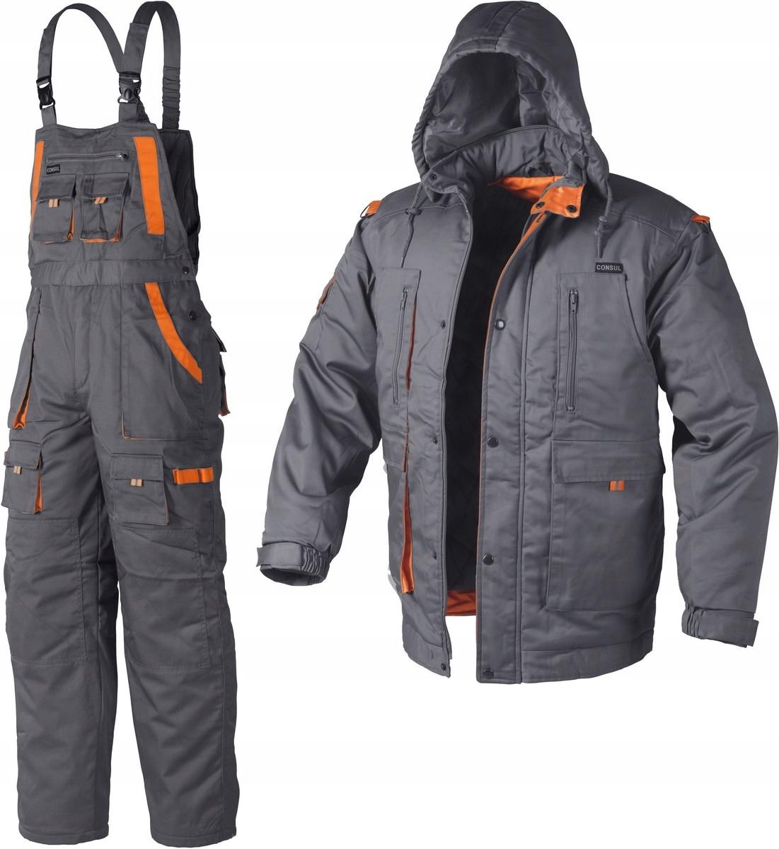 a87aed3265642 SUPER ubranie robocze OCIEPLANE bluza+ spodnie L - 7068638782 ...