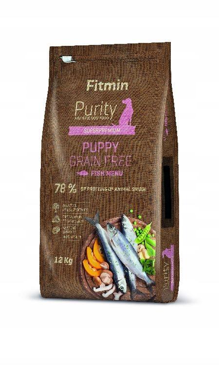 FITMIN PURITY PUPPY 12 KG FISH + GRATIS