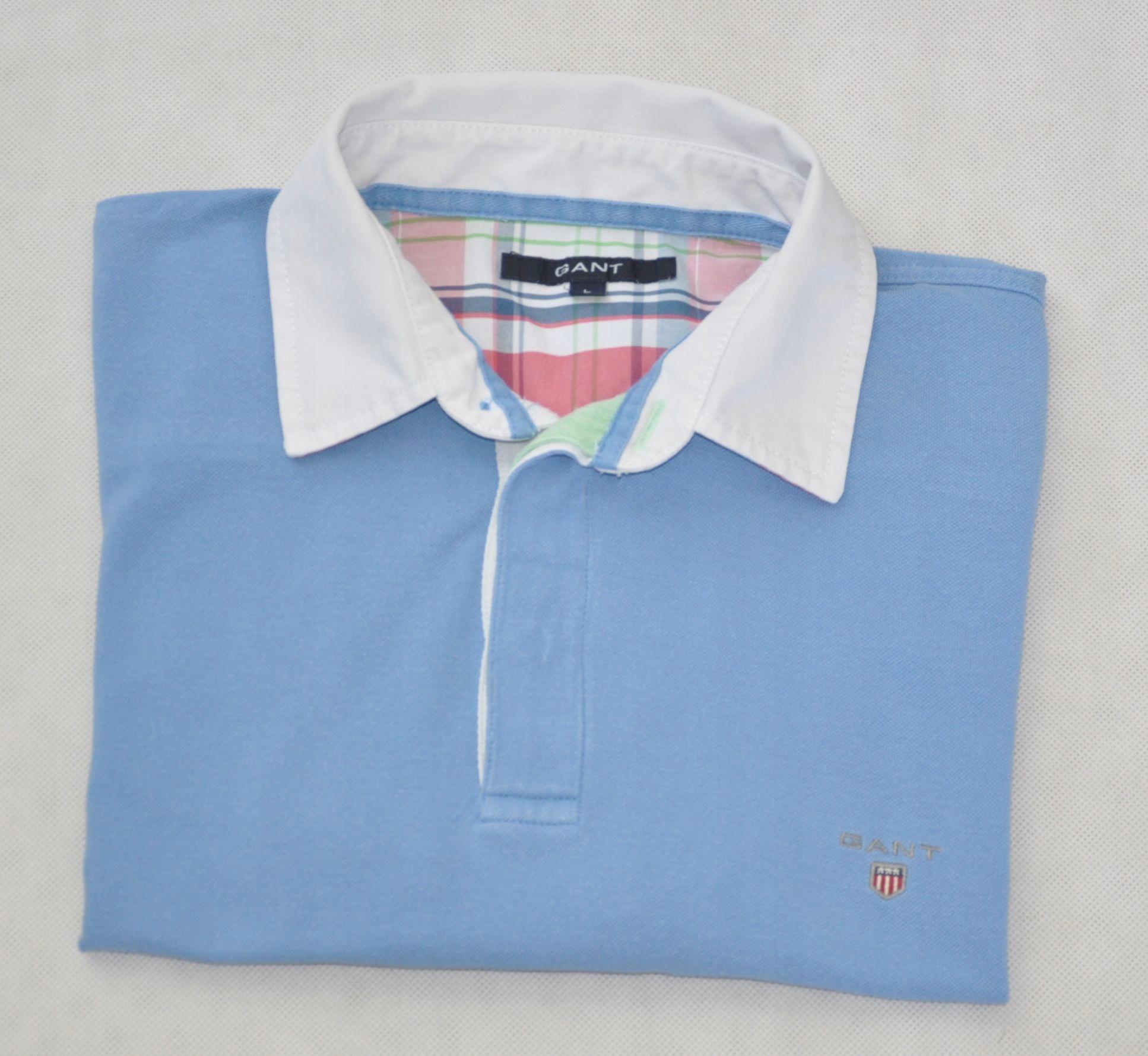a66142340 GANT polówka koszulka polo niebieska L - 7442435139 - oficjalne ...