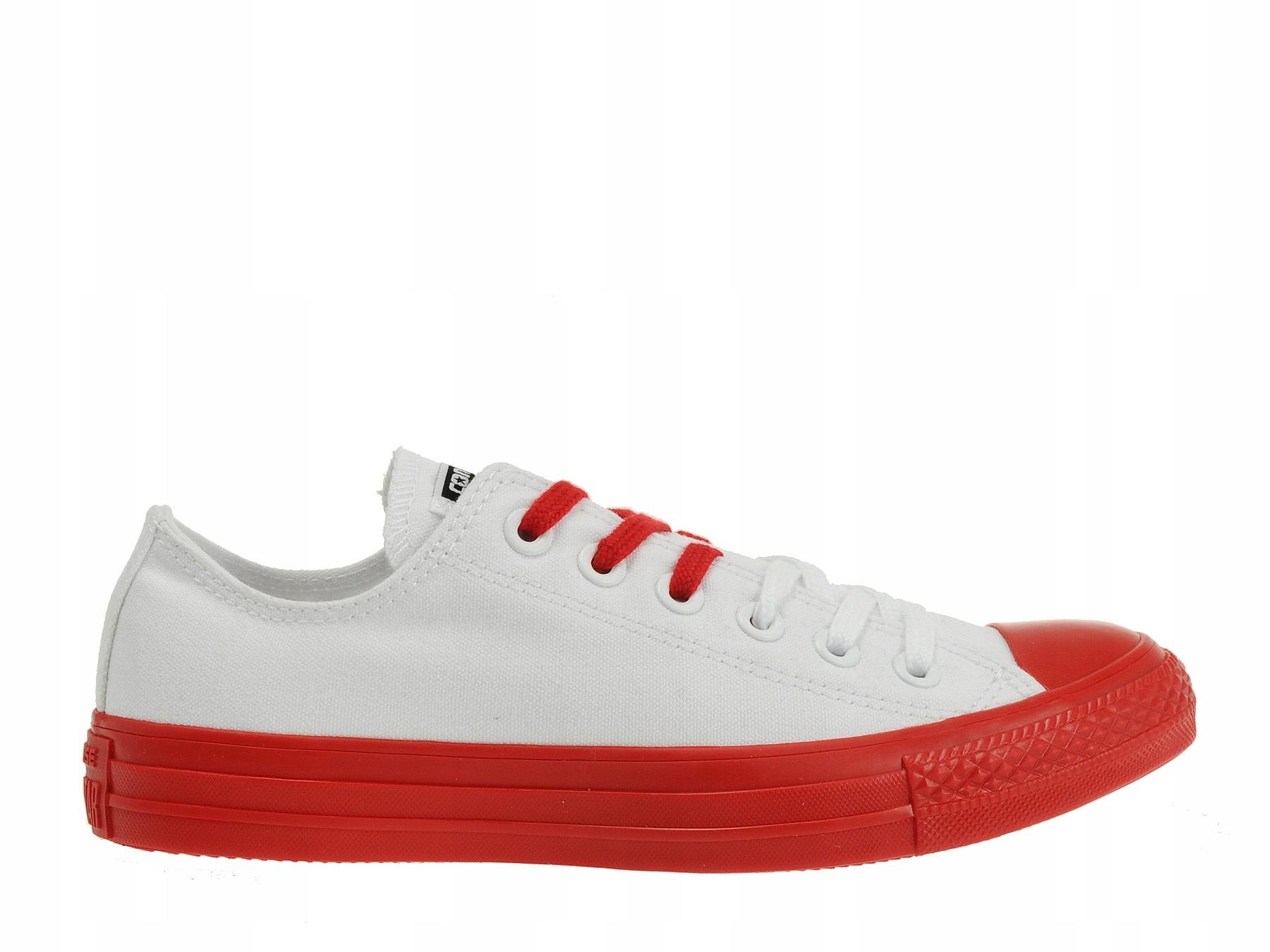 cb8aa4622347b Converse buty trampki All Star białe M7652 38. Buty Converse 156776 Białe  Czerwone Niskie (37)