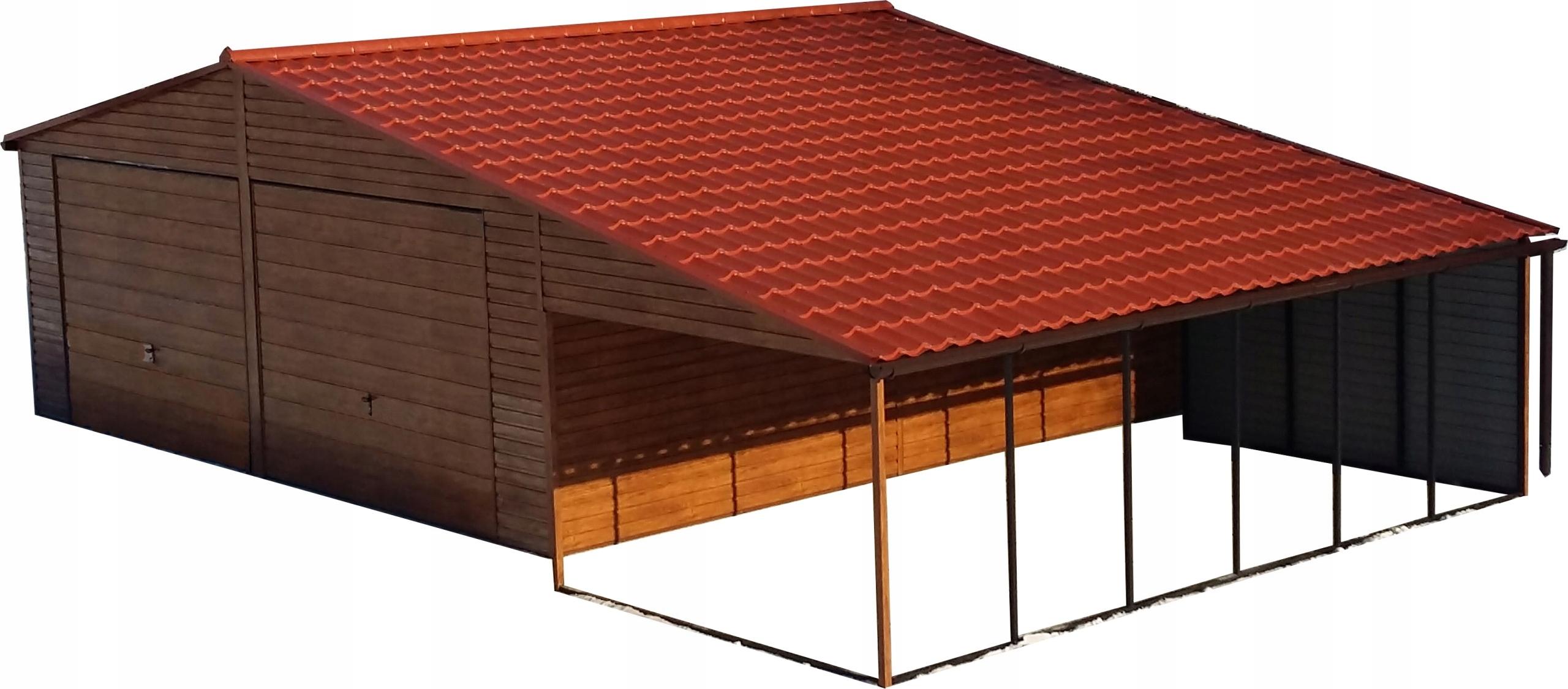 Garaż Blaszany Drewnopodobny Nowość 7485440675 Oficjalne