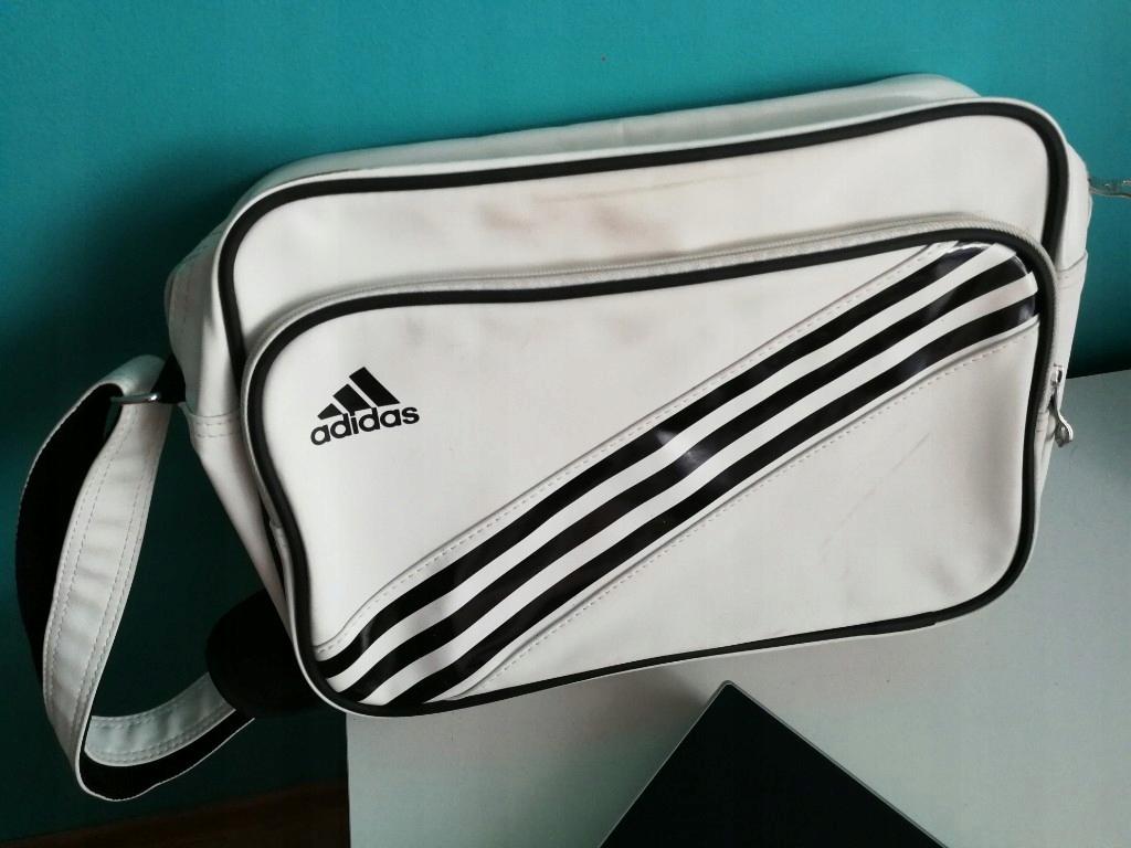 56c6014d24c81 torba Adidas biała na ramię, torebka - 7518475633 - oficjalne ...